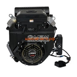 LIFAN Двигатель Lifan LF2V78F-2A PRO(New), 27 л.с. D25, 3А, датчик давл./м, м/рад-р, электрозапуск. Вид 2