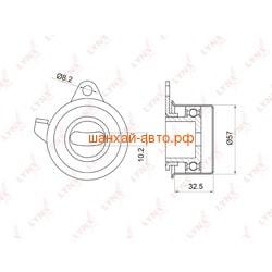 Ролик натяжной ГРМ BYD F3 LYNXauto PB-1032. Вид 2