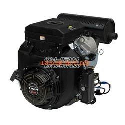 LIFAN Двигатель Lifan LF2V78F-2A PRO(New), 27 л.с. D25, 20А, датчик давл./м, м/радиатор, ручн.+электр. зап
