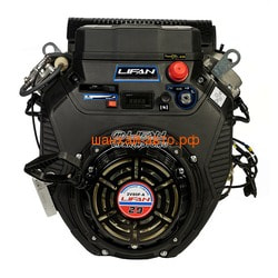 LIFAN Двигатель Lifan LF2V80F-A, 29 л.с. D25, 3А, датчик давл./м, м/радиатор, счетчик моточасов